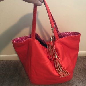 Orange leather Deux Lux purse